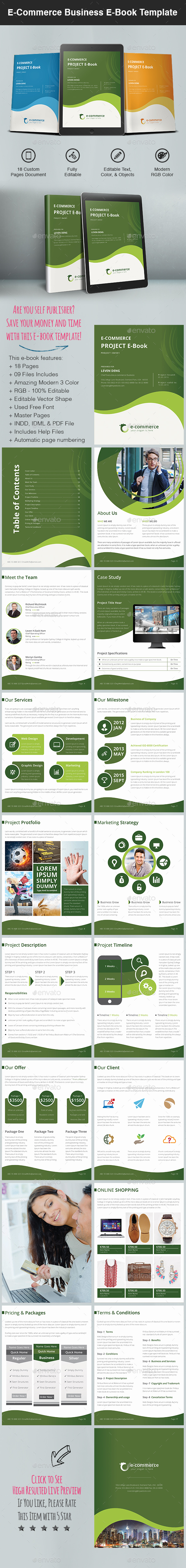 E-Commerce Business E-Book Template - Digital Books ePublishing