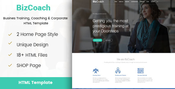 BizCoach - Busines Training, Coaching & Corporate HTML Template - Business Corporate