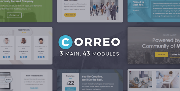 Correo | Newsletter Template - Email Templates Marketing