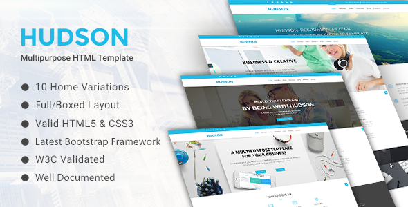 HUDSON - Multipurpose HTML Template - Business Corporate