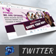 Gym Twitter Cover Template - GraphicRiver Item for Sale