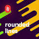 Flat Irregular Rounded Lines Backgrounds - GraphicRiver Item for Sale