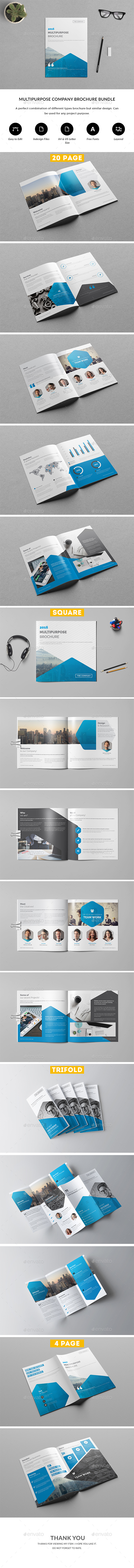 Company Brochure Bundle - Brochures Print Templates