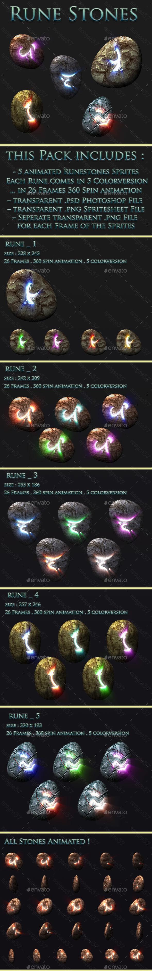 Runestones - Sprites Game Assets