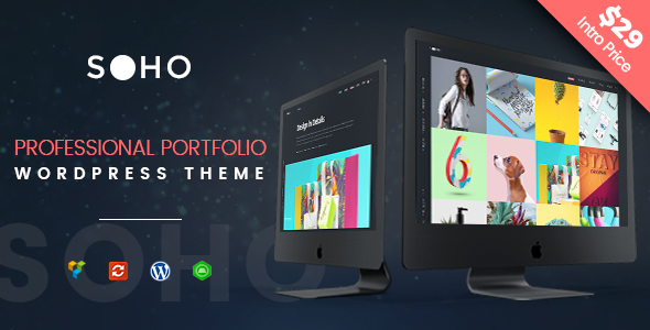 Creative Portfolio WordPress Theme – SOHO Pro