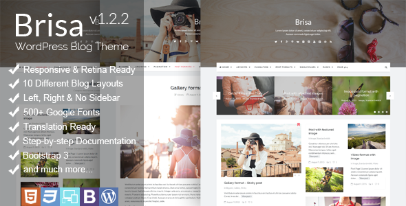 Brisa - Responsive WordPress Blog Theme - Personal Blog / Magazine