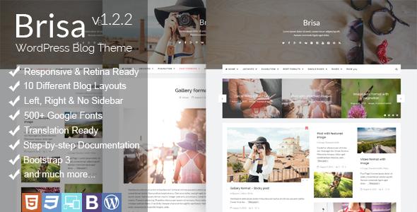 Brisa Responsive WordPress Blog Theme