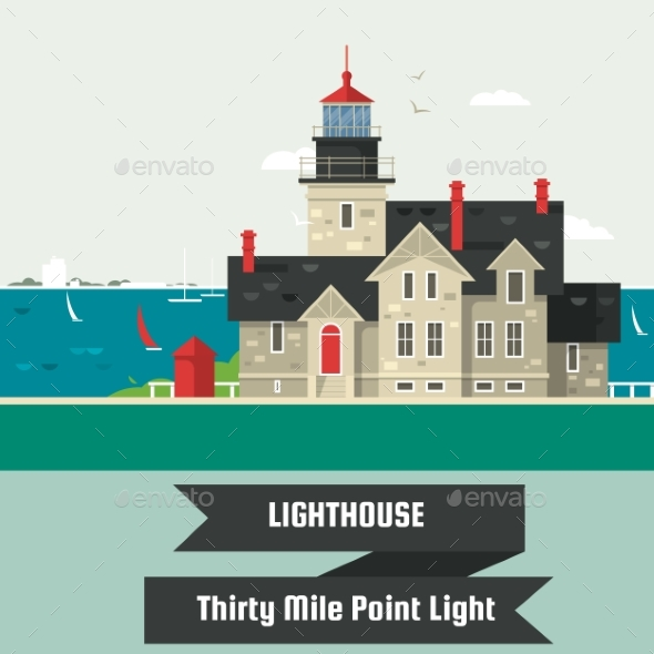 Lighthouse.Thirty Mile Point Light. - Landscapes Nature