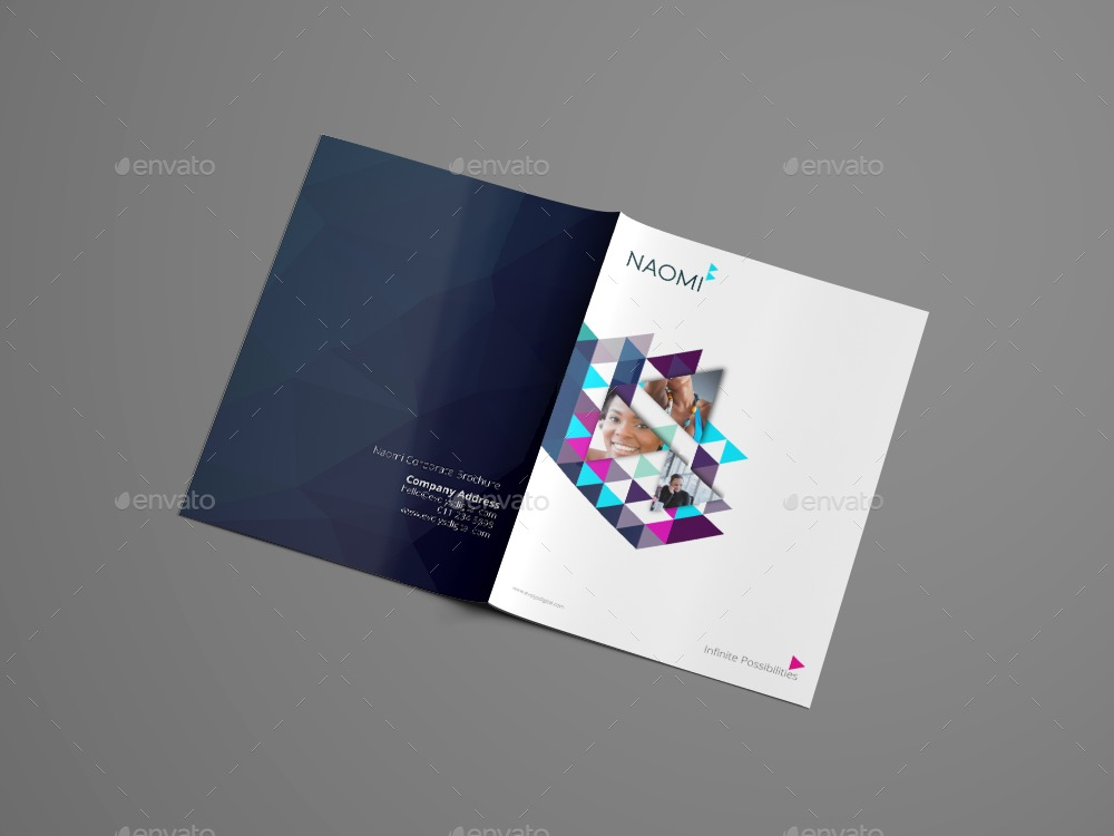 Naomi Clean Modern Corporate Brochure Template By Evolysdigital