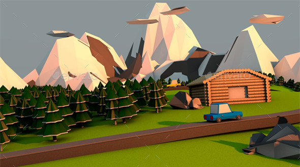 Village 3D - 3D Backgrounds