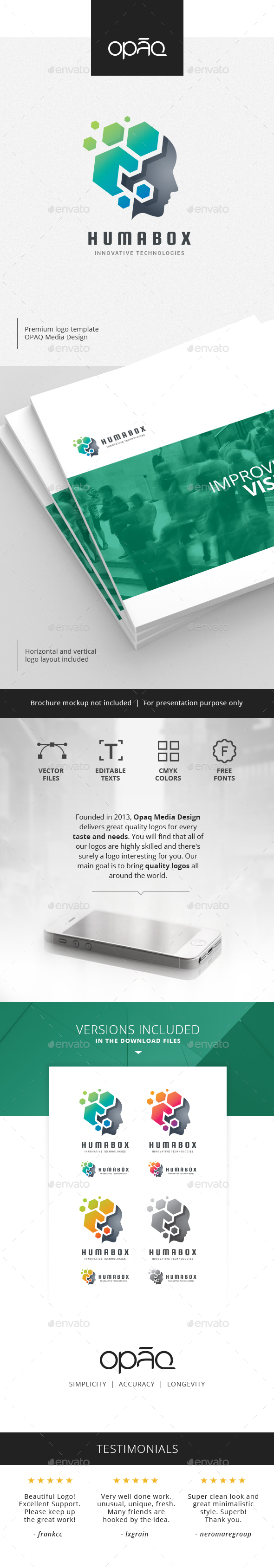 Virtual Human Box Builder Logo - Humans Logo Templates
