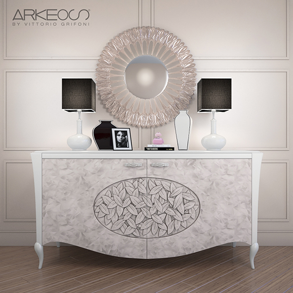 sideboard Arkeos KRONOS K100 White Silver - 3DOcean Item for Sale