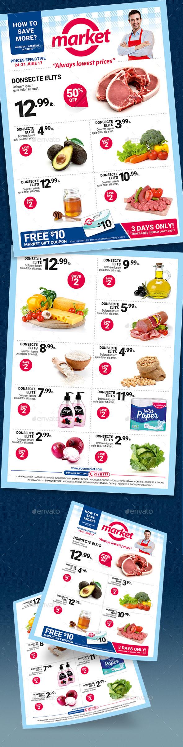 Supermarket Sale Flyer - Commerce Flyers