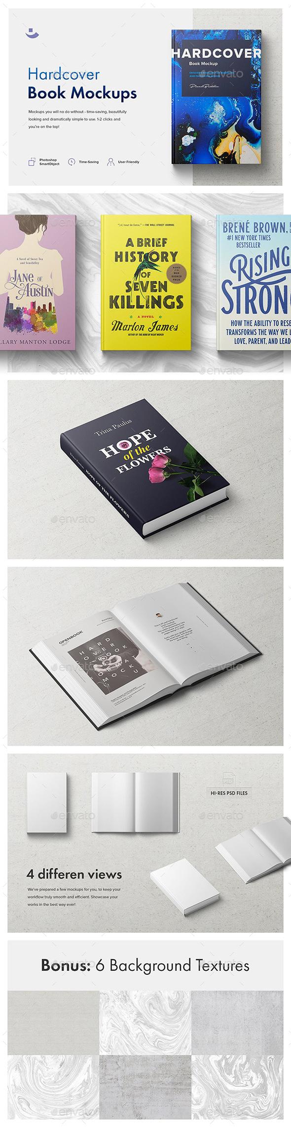 Hardcover Book Mockup Set - Books Print