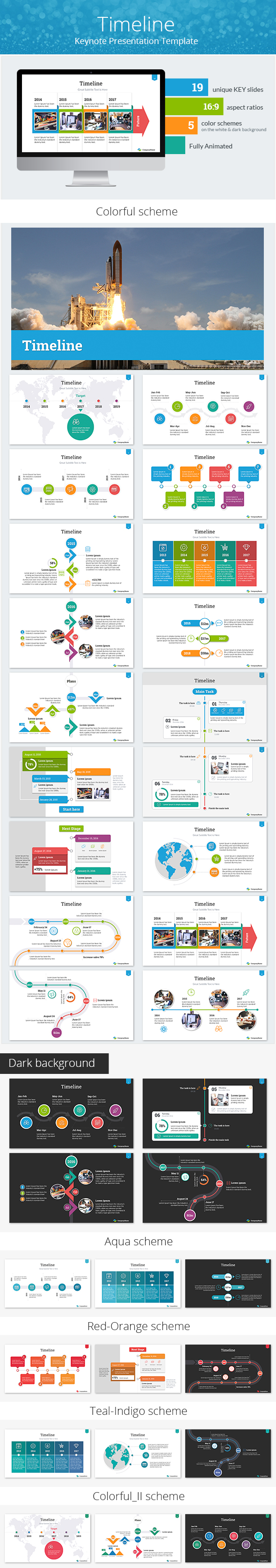 Timeline Keynote Presentation Template By SanaNik GraphicRiver - Timeline template keynote