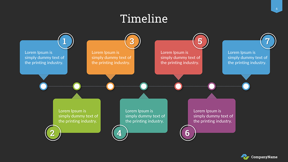 Timeline Keynote Presentation Template By Sananik | Graphicriver