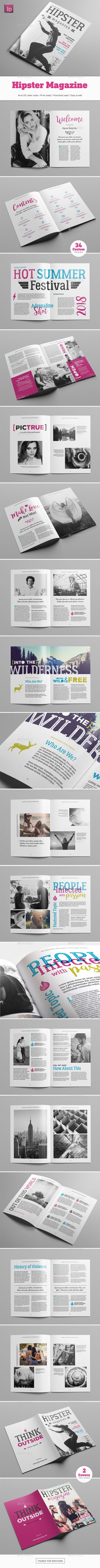 Hipster Magazine - Magazines Print Templates