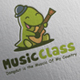 Dino Music Class Logo Design - GraphicRiver Item for Sale