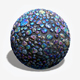 iridescent Pebble Tiles Seamless Texture