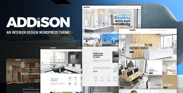 Addison – Interior Design & Decoration WordPress Theme (Portfolio) images