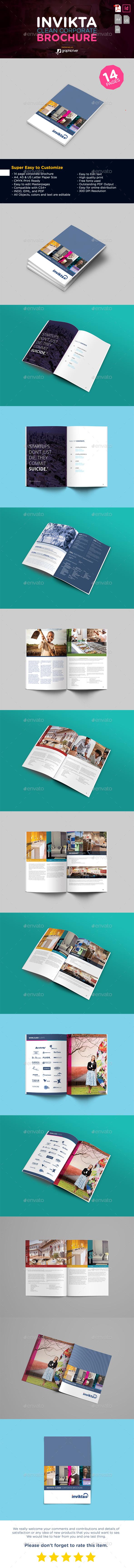 Invikta Clean Corporate Brochure Template - Corporate Brochures