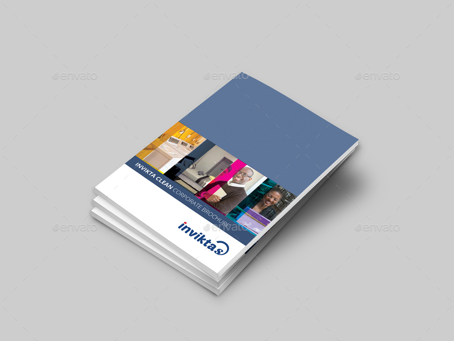 Invikta Clean Corporate Brochure Template By Evolysdigital