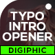 Typography Intro Opener - VideoHive Item for Sale