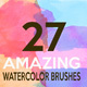 27 Watercolor Brushes HQ - GraphicRiver Item for Sale