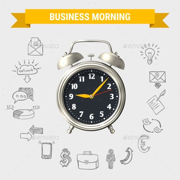 Business Morning Round Composition - Concepts Business