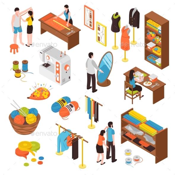 Atelier Studio Isometric Icons Set - Industries Business