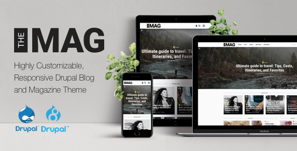 TheMAG – Highly Customizable Drupal 7 & Drupal 8 Blog and Magazine Theme