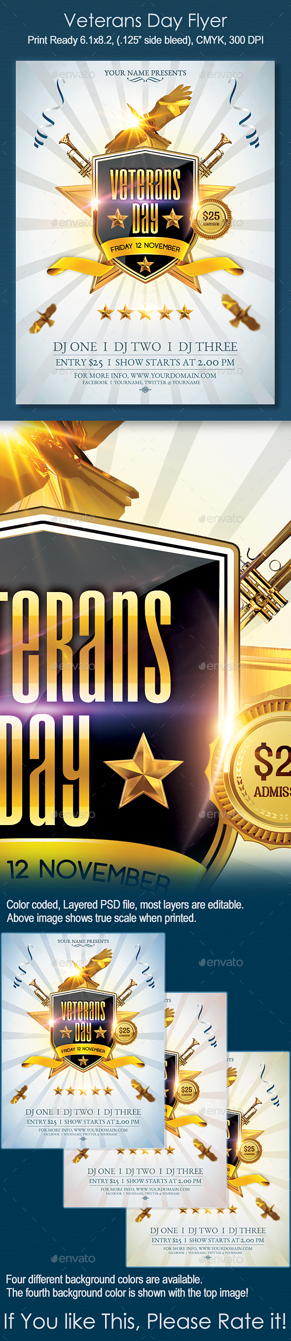 Veterans Day Flyer - Holidays Events
