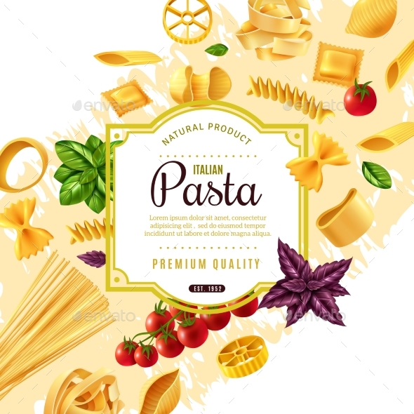 Pasta Decorative Frame - Food Objects