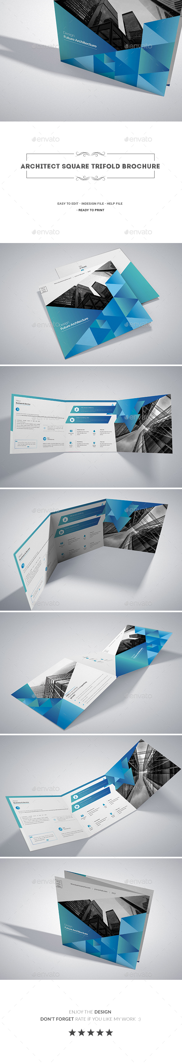 Architect Square Tri-fold Brochure - Corporate Brochures