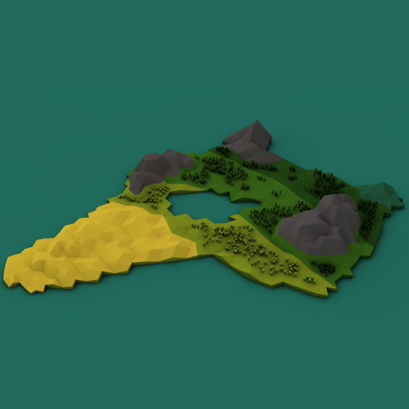 Low_poly World - 3DOcean Item for Sale