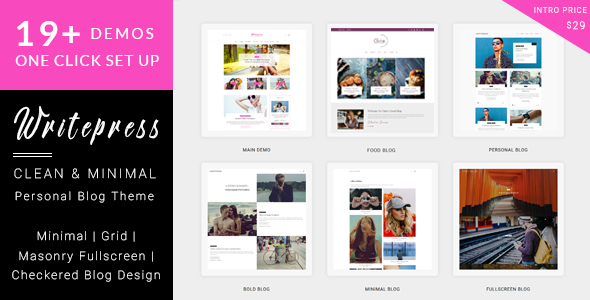 Writepress Personal Blog and Magazine WordPress Theme