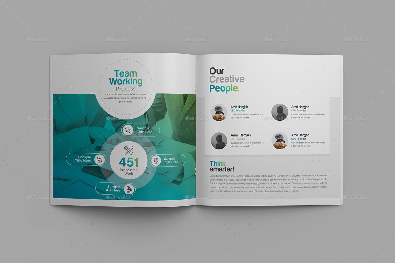 Company Profile Square Bi-Fold Brochure by generousart | GraphicRiver