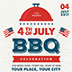 4th July BBQ Flyer