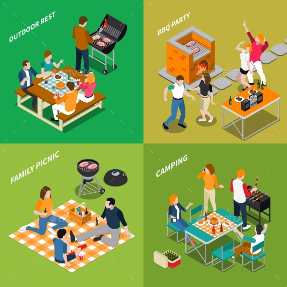 BBQ Isometric Compositions - Sports/Activity Conceptual