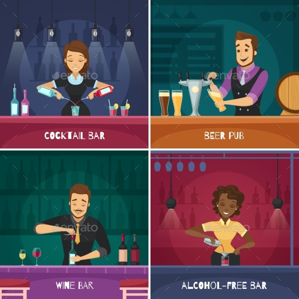 Barman 2X2 Design Concept - Miscellaneous Vectors