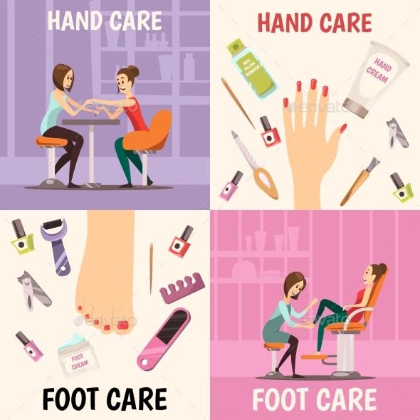 Manicure Concept Icons Set - Industries Business