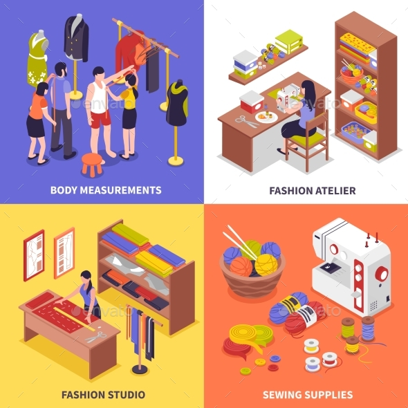 Fashion Atelier 2X2 Design Concept - Miscellaneous Vectors