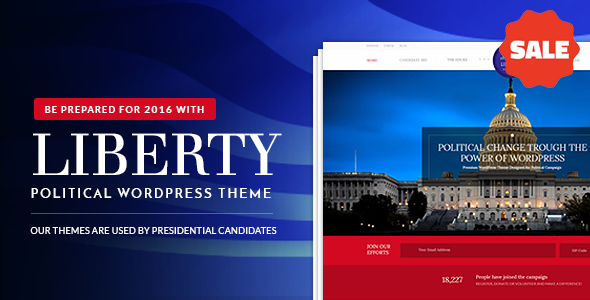 Liberty - Your Political WordPress Theme - Political Nonprofit