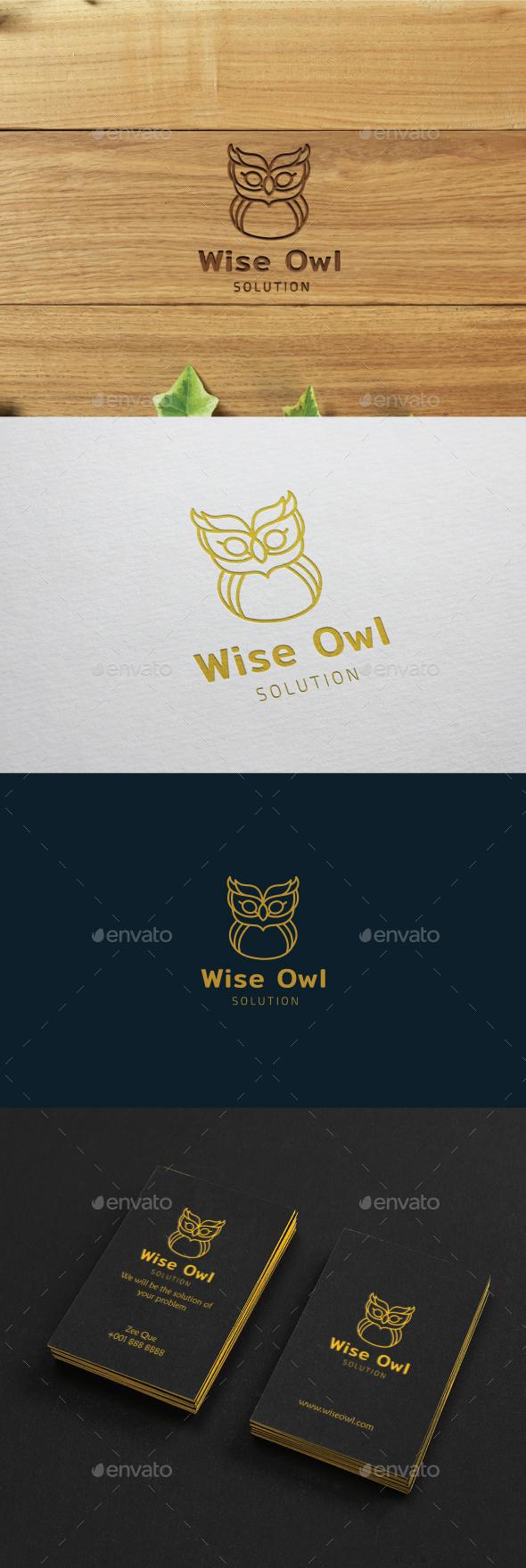 Wise Owl Logo - Animals Logo Templates
