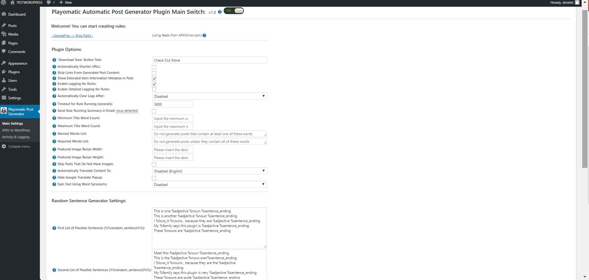 Playomatic - Play Store Automatic Post Generator Plugin for WordPress