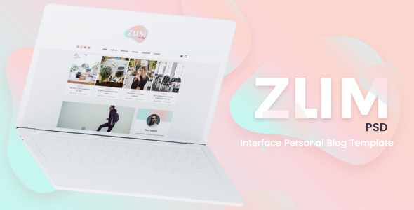 ZUM – Interface Personal Blog PSD Template