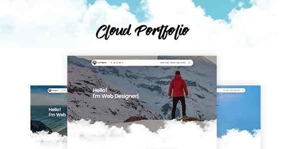 Creative Portfolio Template - Cloud