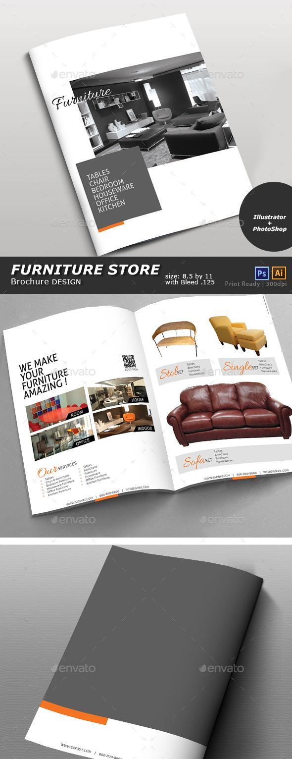 Furniture Store Catalog - Brochures Print Templates