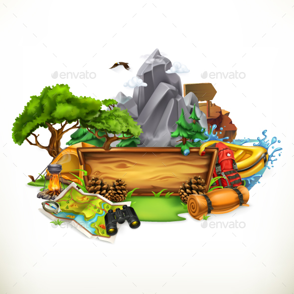 Camping and Adventure - Sports/Activity Conceptual