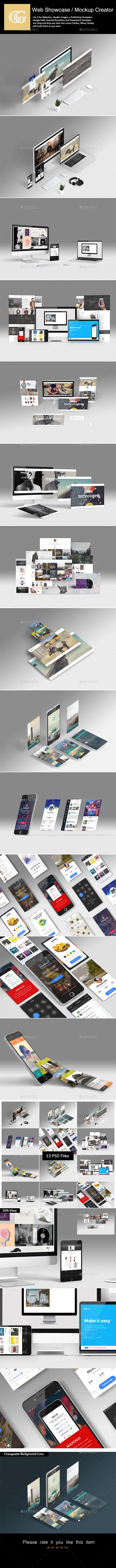 Web Showcase / Mockup Creator - Miscellaneous Print